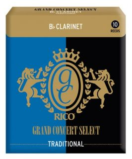 RICO RGC10BCL200 - Grand Concert Select Traditional - Bb Clarinet Reeds 2.0 - 10 Box