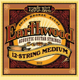 ERNIE BALL P02012 Earthwood 80/20 Bronze 12 Light - .011 - .052