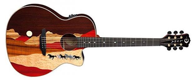 LUNA GUITARS Vista Mustang EA Natural