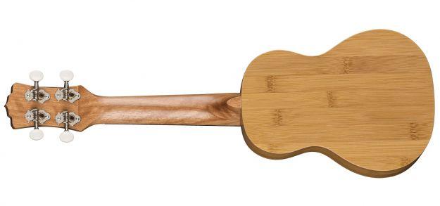 LUNA GUITARS Bamboo Soprano Ukulele Satin Natural