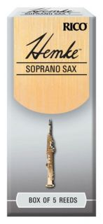 RICO RHKP5SSX300 Hemke - Soprano Sax Reeds 3.0 - 5 Box