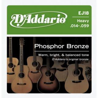 D'ADDARIO EJ18 Phosphor Bronze Heavy - .014 - .059