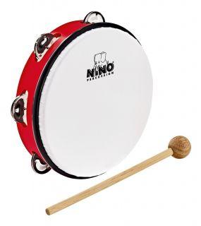 "NINO PERCUSSION NINO51R ABS Tambourine 8"" - Red"