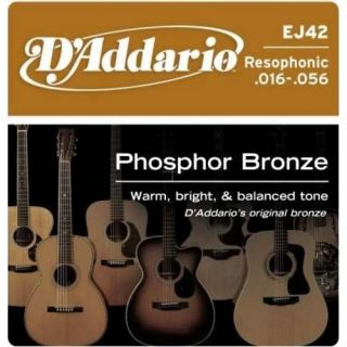 D'ADDARIO EJ42 Phosphor Bronze Resofonic Extra Light - .016 - .052