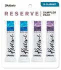 RICO DRS-C355 Reserve Reed Sampler Pack - Bb Clarinet 3.5+/4.0 - 4-Pack