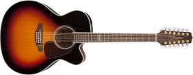 TAKAMINE GJ72CE-12, Rosewood Fingerboard - Black Sunburst
