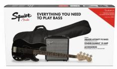 FENDER SQUIER Affinity PJ Bass + Rumble 15 PACK Black
