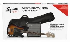 FENDER SQUIER Affinity PJ Bass + Rumble 15 PACK Brown Sunburst