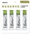 RICO DRS-J30 Reserve Reed Sampler Pack - Alto Saxophone 3.0/3.0+/3.5 - 4-Pack