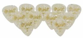 DUNLOP 483P04MD Classic Celluloid White Pearloid Medium