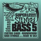 ERNIE BALL 2850 Stainless Steel Bass Long Scale 5 Slinky - .045 - .130