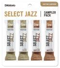 RICO DSJ-L2M Select Jazz Reed Sampler Pack - Baritone Saxophone 2M/2H - 4-Pack