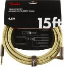 FENDER Deluxe Series 15 Instrument Cable Angled Tweed
