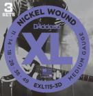 D'ADDARIO EXL115-3D Blues/Jazz Rock - .011 - .049