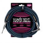 ERNIE BALL P06060 Braided Cable 25 SA Black Blue