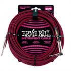 ERNIE BALL P06062 Braided Cable 25 SA Black Red