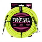 ERNIE BALL P06057 Braided Cable 25 SA Neon Yellow