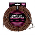 ERNIE BALL P06064 Braided Cable 25 SA Black Orange