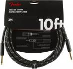 FENDER Deluxe Series 10 Instrument Cable Black Tweed