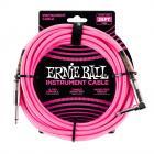 ERNIE BALL P06065 Braided Cable 25 SA Neon Pink