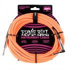 ERNIE BALL P06067 Braided Cable 25 SA Neon Orange