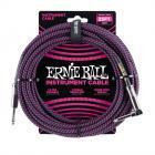 ERNIE BALL P06068 Braided Cable 25 SA Black Purple