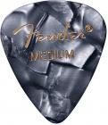 FENDER Premium Celluloid 351 Shape Picks Medium Black Moto- 12ks