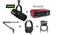 SHURE x Focusrite MV7X Podcast Bundle