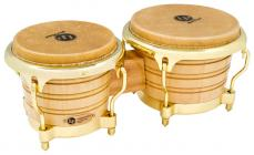 LATIN PERCUSSION Generation II Bongos - Natural - Gold
