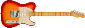 FENDER American Ultra Telecaster Plasma Red Burst Maple