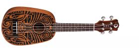 LUNA GUITARS Uke Tribal Mahogany Pineapple Satin Natural