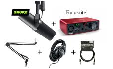 SHURE x Focusrite SM7B Podcast PRO Bundle