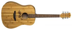 LUNA GUITARS Woodland Bamboo Dreadnought Satin Natural