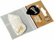 GIBSON Pearloid White Picks 12 Pack Medium