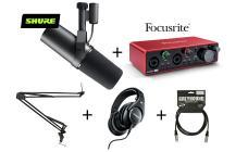 SHURE x Focusrite SM7B + 2i2 Podcast PRO Bundle