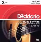D'ADDARIO EJ12-3D Bronze Light 13-56