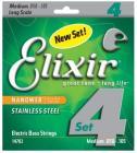 ELIXIR 14702 NANOWEB Electric Bass Stainless Steel .050-.105