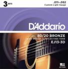 D'ADDARIO EJ13-3D Bronze Custom Light 11-52
