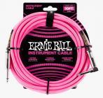 ERNIE BALL P06078 Braided Cable 10 SA Neon Pink