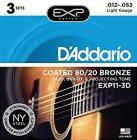 D'ADDARIO EXP11-3D Bronze Light 12-53