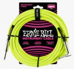 ERNIE BALL P06080 Braided Cable 10 SA Neon Yellow
