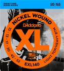 D'ADDARIO EXL140 Light Top/Heavy Bottom - .010 - .052