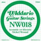 D'ADDARIO XL Nickel Wound - Jednotlivá struna - .018