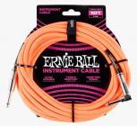 ERNIE BALL P06079 Braided Cable 10 SA Neon Orange