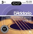 D'ADDARIO EXP26-3D Phosphor Bronze Custom Light 11-52