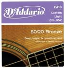 D'ADDARIO EJ13 Bronze Custom Light 11-52
