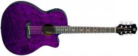 LUNA GUITARS Gypsy Quilt Ash Trans Purple