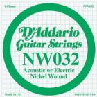 D'ADDARIO XL Nickel Wound - Jednotlivá struna - .032