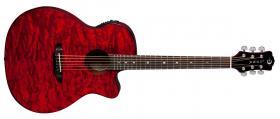 LUNA GUITARS Gypsy Quilt Ash Trans Red