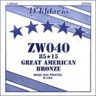 D'ADDARIO ZW040 80/15 Great American Bronze - .040